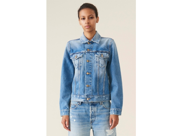 DISTRESSED DENIM JAKKE
