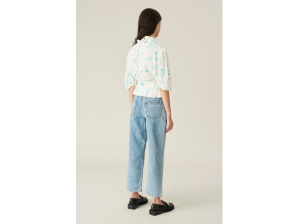 HIGH-RISE RELAXED ACID-WASH JEANS