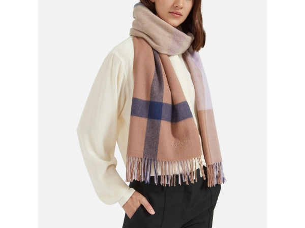 LARGE CHECK L.WOOL SCARF