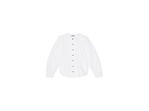 COTTON POPLIN SKJORTE